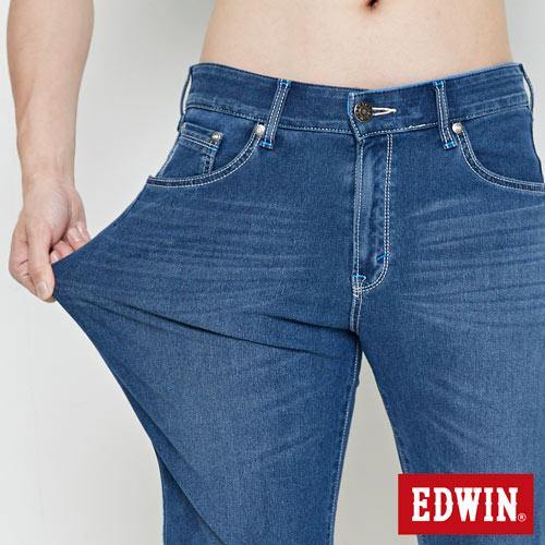 【9折優惠↘】【大尺碼】EDWIN JERSEYS迦績極涼寬短褲-男款 石洗綠 4