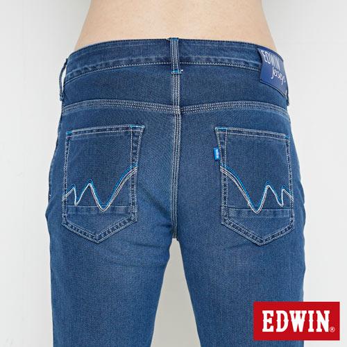 【9折優惠↘】【大尺碼】EDWIN JERSEYS迦績極涼寬短褲-男款 石洗綠 5