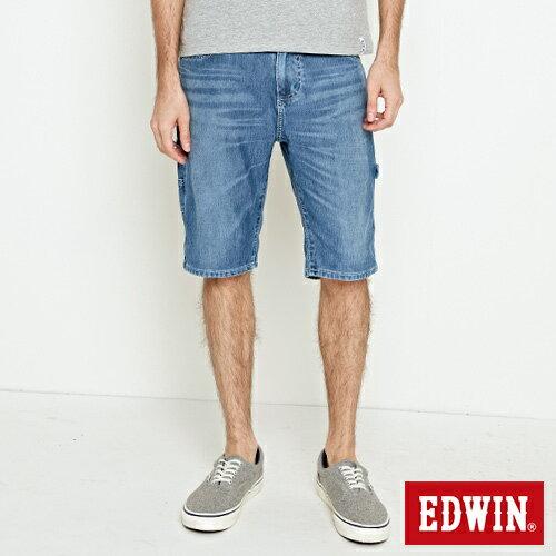 【EDWIN】迦績角袋牛仔工作短褲