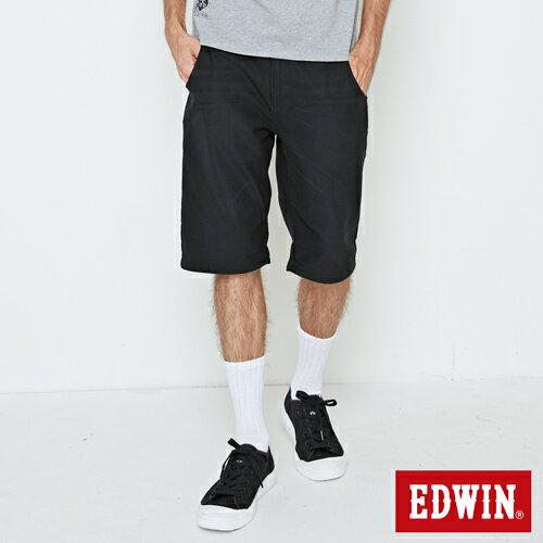【5折優惠↘】EDWINJERSEYS迦績合身版休閒短褲-男款黑色【單筆滿5030元送限量生日T】【5月會員消費滿3000元再賺15%點數】