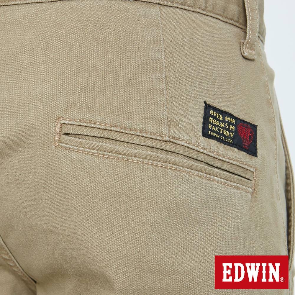 EDWIN KAKHI 基本休閒斜袋 五分色短褲-男款 卡其色 SHORTS 7