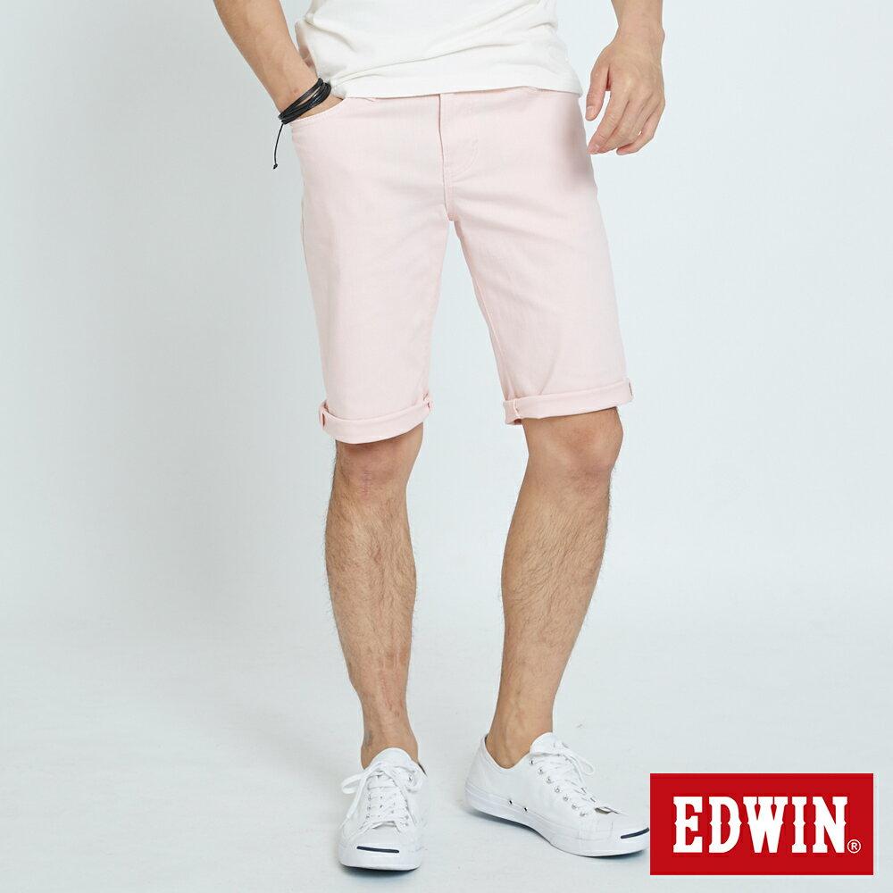 EDWIN 503 KAKHI 基本五袋式 五分色短褲-男款 淡粉色 SHORTS 0
