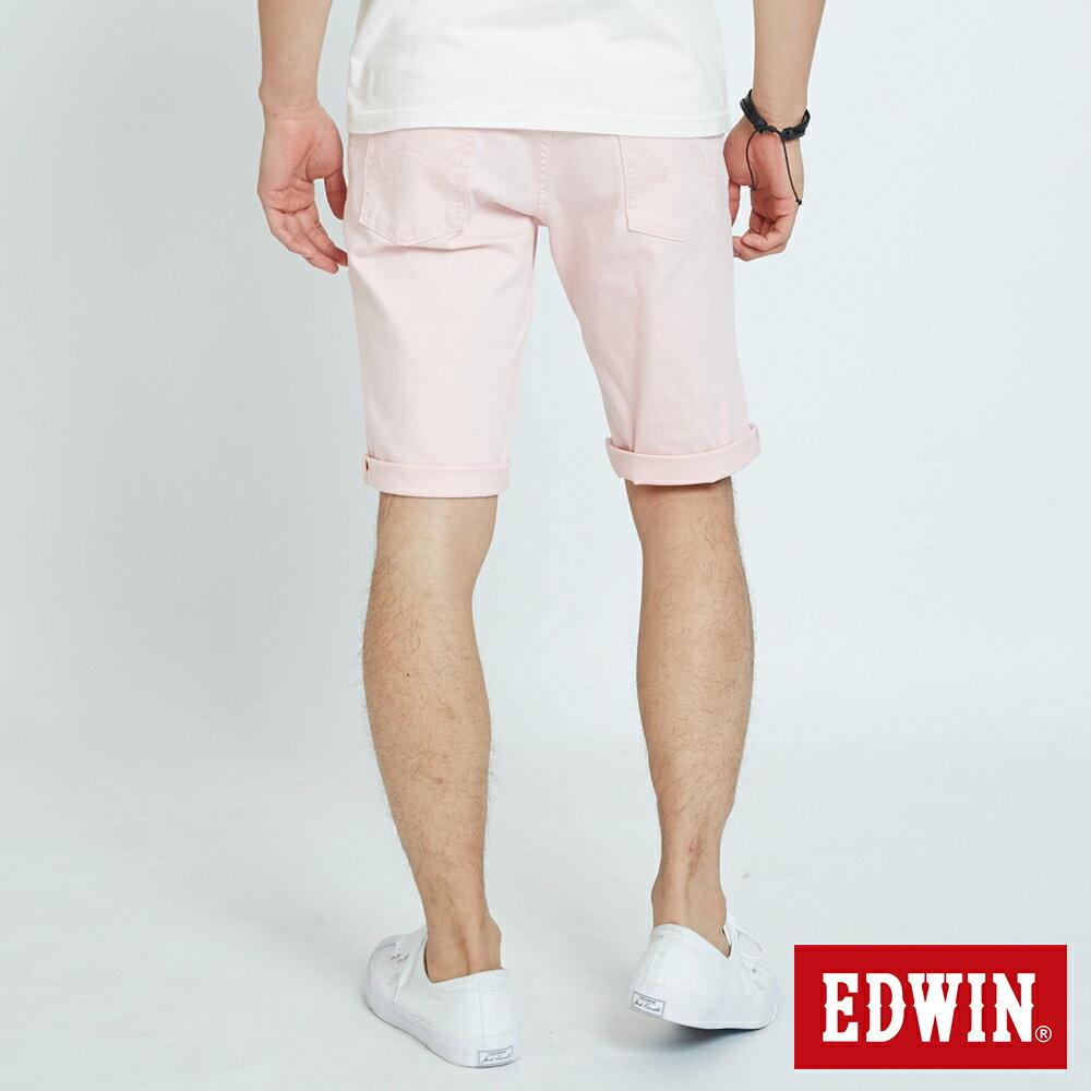 EDWIN 503 KAKHI 基本五袋式 五分色短褲-男款 淡粉色 SHORTS 1