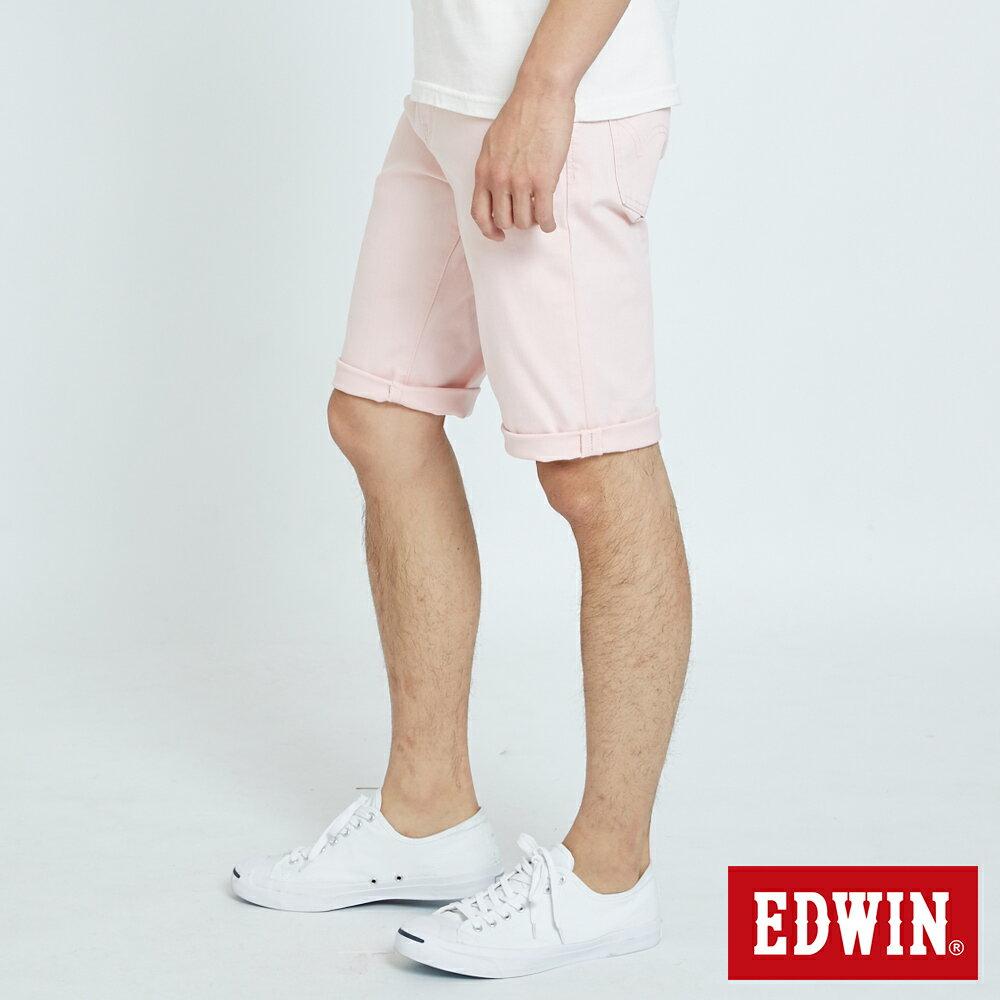 EDWIN 503 KAKHI 基本五袋式 五分色短褲-男款 淡粉色 SHORTS 2