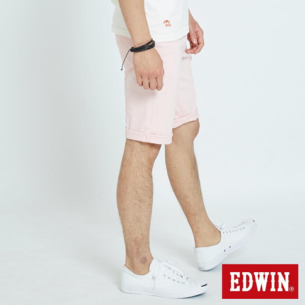 EDWIN 503 KAKHI 基本五袋式 五分色短褲-男款 淡粉色 SHORTS 3