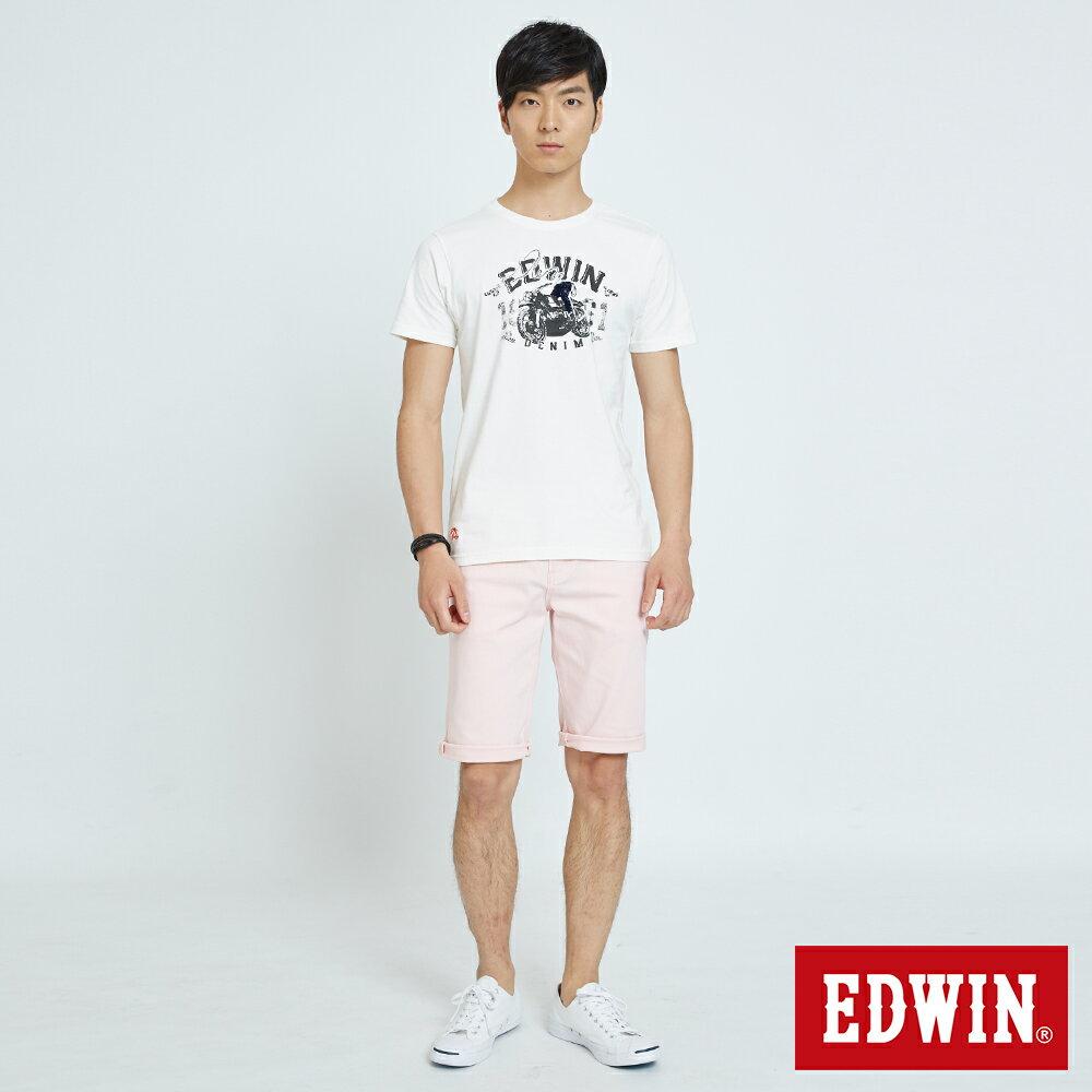 EDWIN 503 KAKHI 基本五袋式 五分色短褲-男款 淡粉色 SHORTS 4