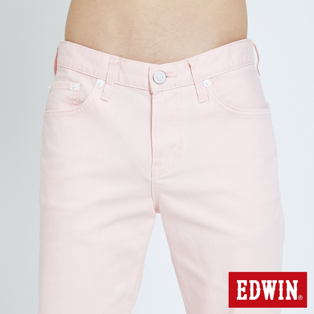 EDWIN 503 KAKHI 基本五袋式 五分色短褲-男款 淡粉色 SHORTS 5
