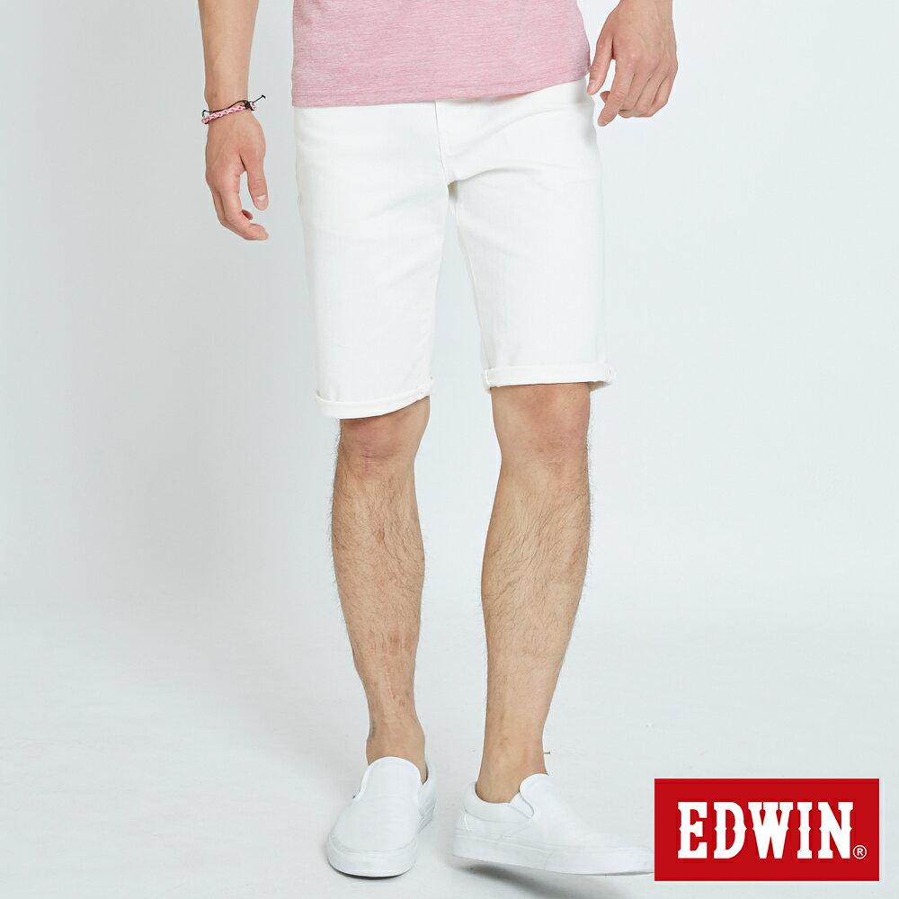 EDWIN 503 KAKHI 基本五袋式 五分色短褲-男款 白色 SHORTS 0