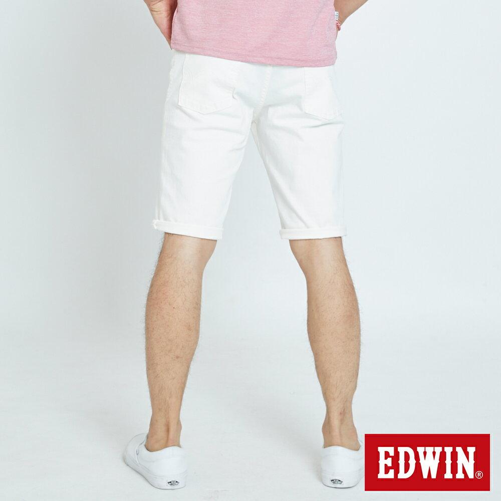 EDWIN 503 KAKHI 基本五袋式 五分色短褲-男款 白色 SHORTS 1