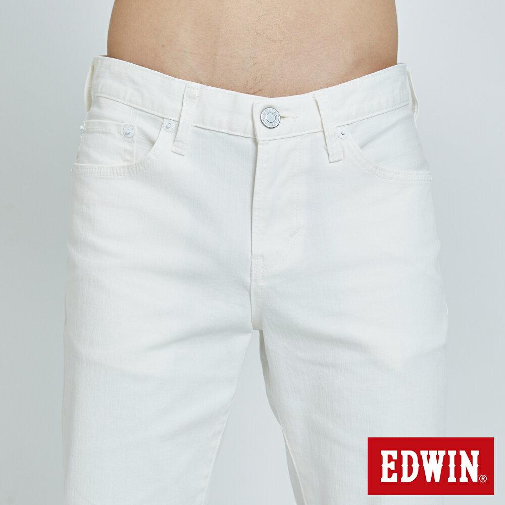 EDWIN 503 KAKHI 基本五袋式 五分色短褲-男款 白色 SHORTS 5