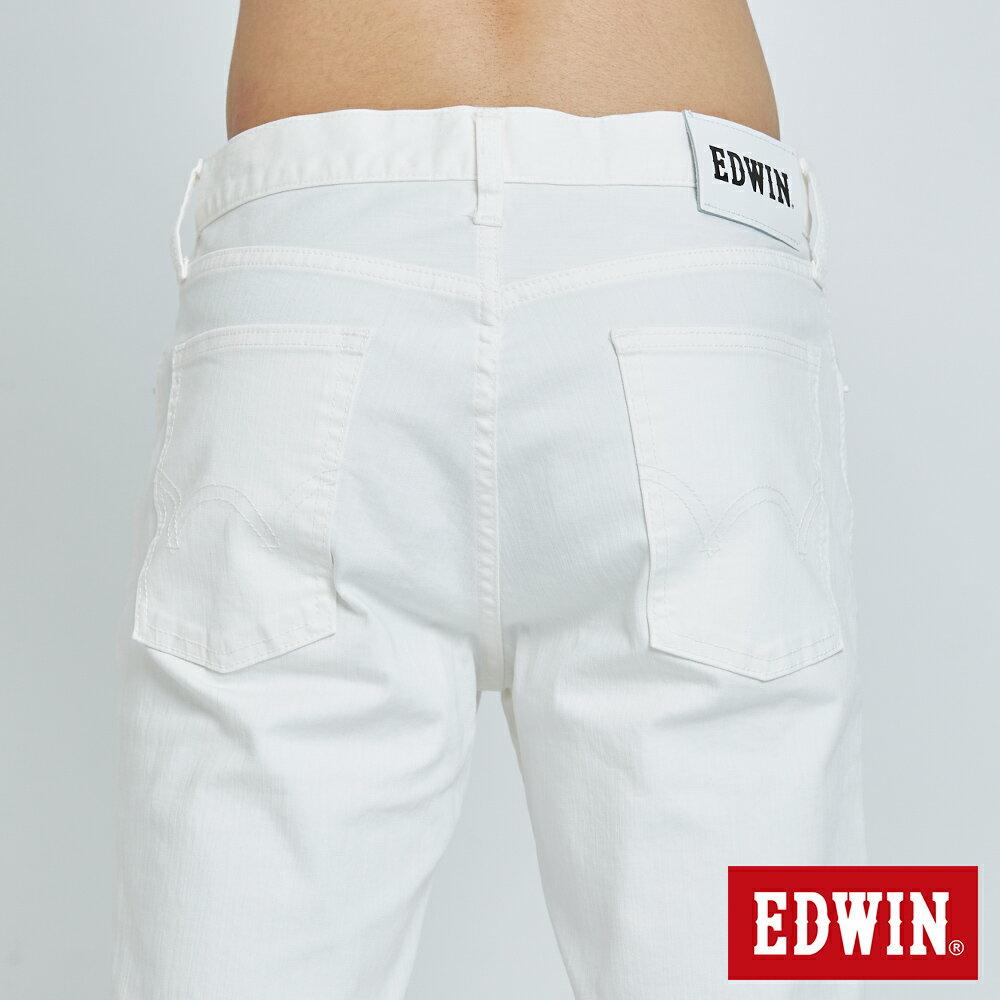 EDWIN 503 KAKHI 基本五袋式 五分色短褲-男款 白色 SHORTS 6