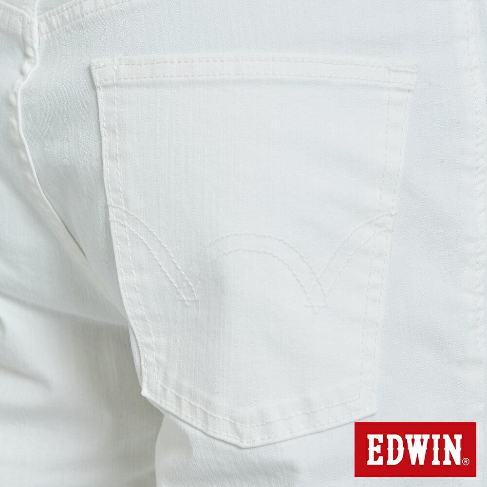 EDWIN 503 KAKHI 基本五袋式 五分色短褲-男款 白色 SHORTS 7