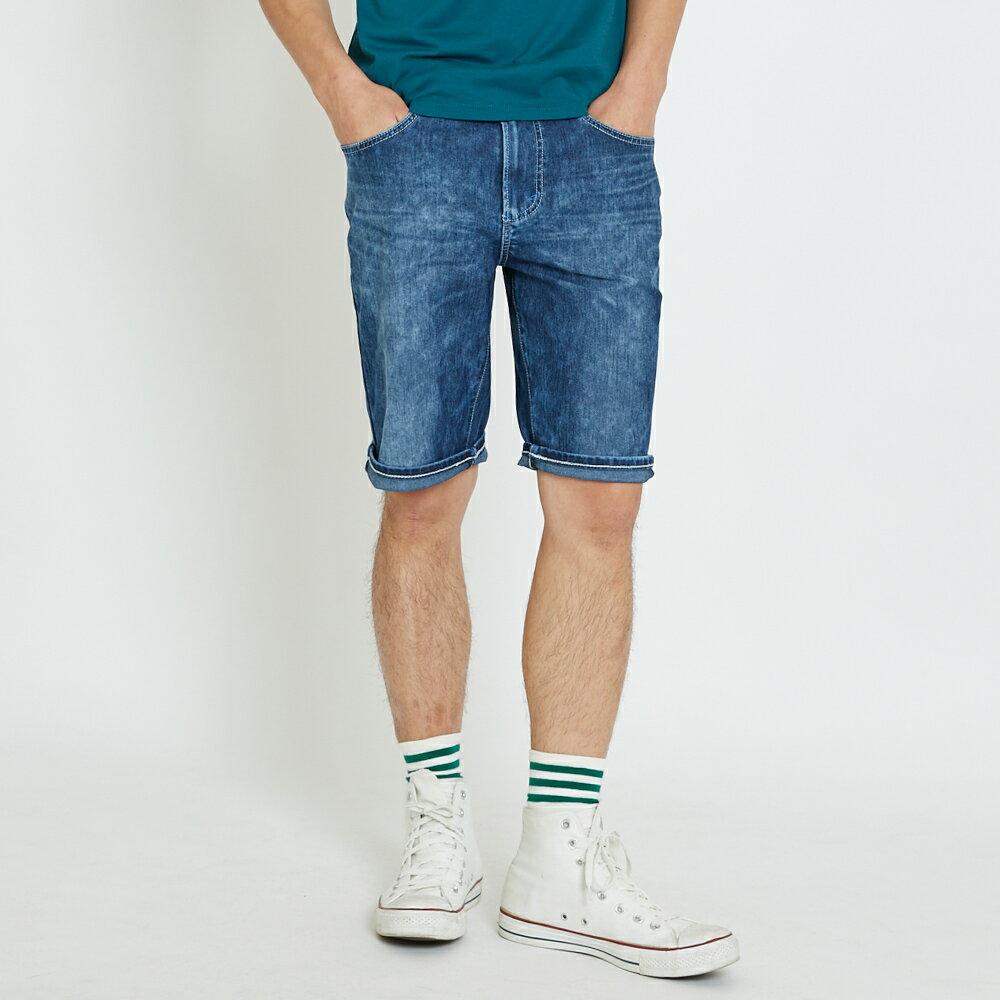 新品↘EDWIN JERSEYS迦績雪花洗 五分牛仔褲-男款 石洗綠 SHORTS 1