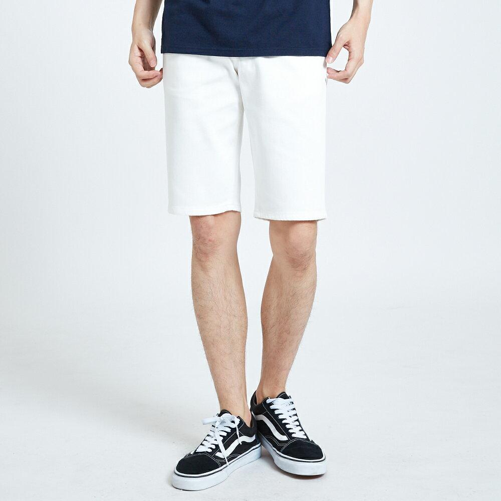 新品↘EDWIN EDGE LINE 503 酷涼經典 休閒五分褲 (紅色袋花) -男款 白色 SHORTS 1