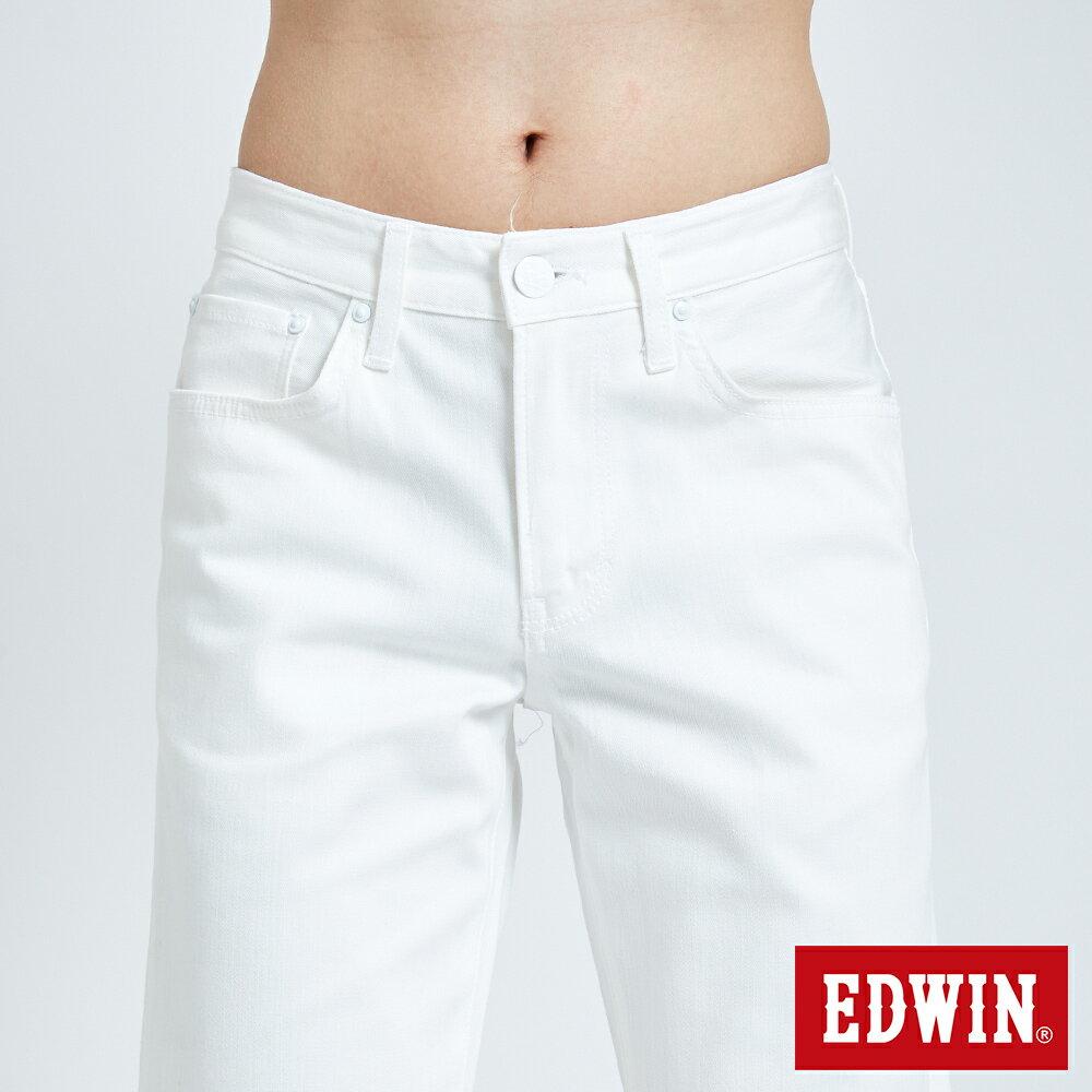 新品↘EDWIN EDGE LINE 503 酷涼經典 休閒五分褲 (紅色袋花) -男款 白色 SHORTS 6