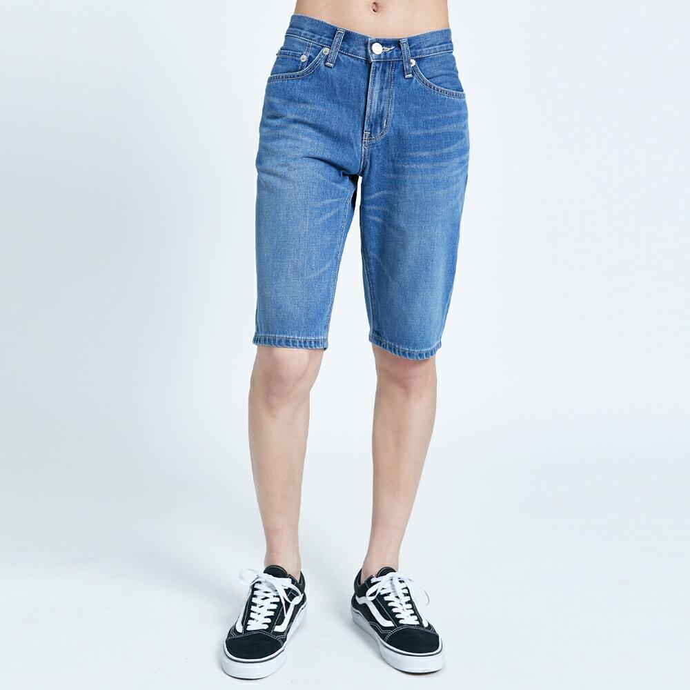 【滿額領券折$150】EDWIN 503 基本復古牛仔短褲-男款 石洗藍 SHORTS