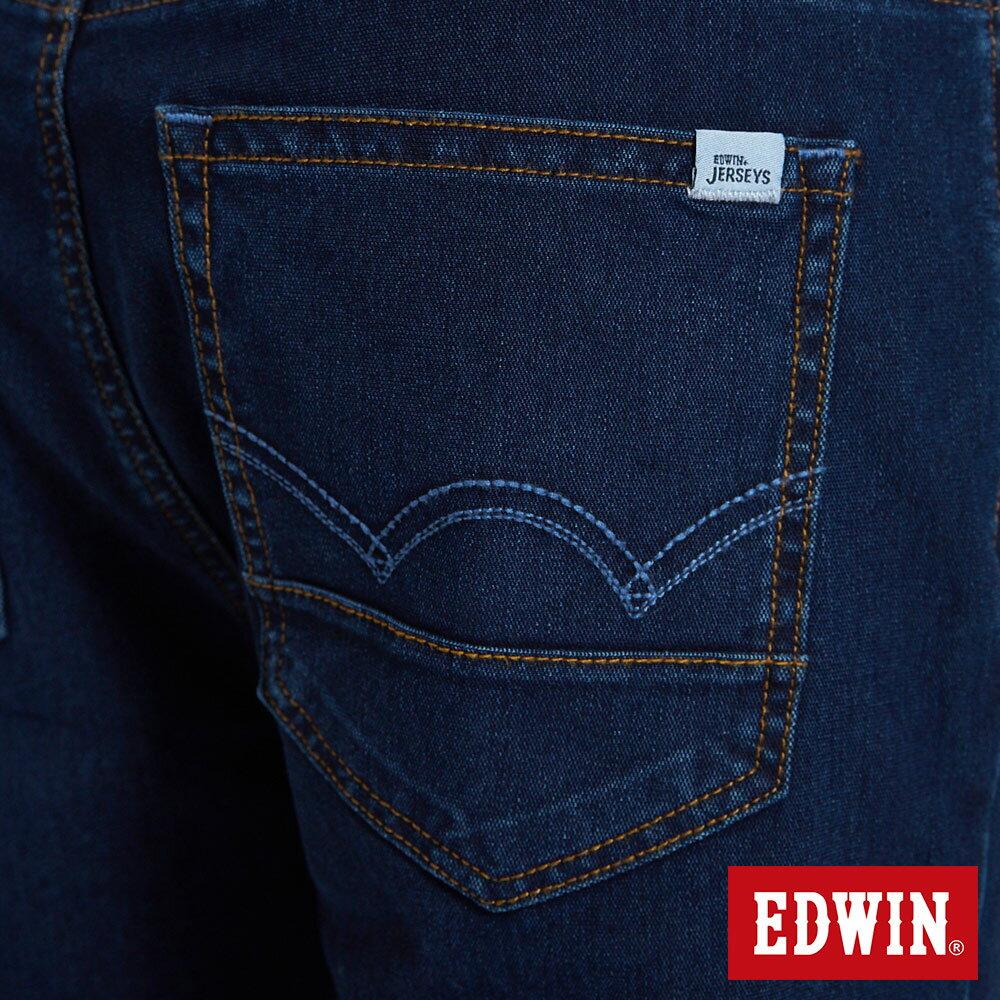新品↘EDWIN JERSEYS 迦績 PK EJ2透氣中腰合身 牛仔短褲-男款 原藍磨 SHORTS 9