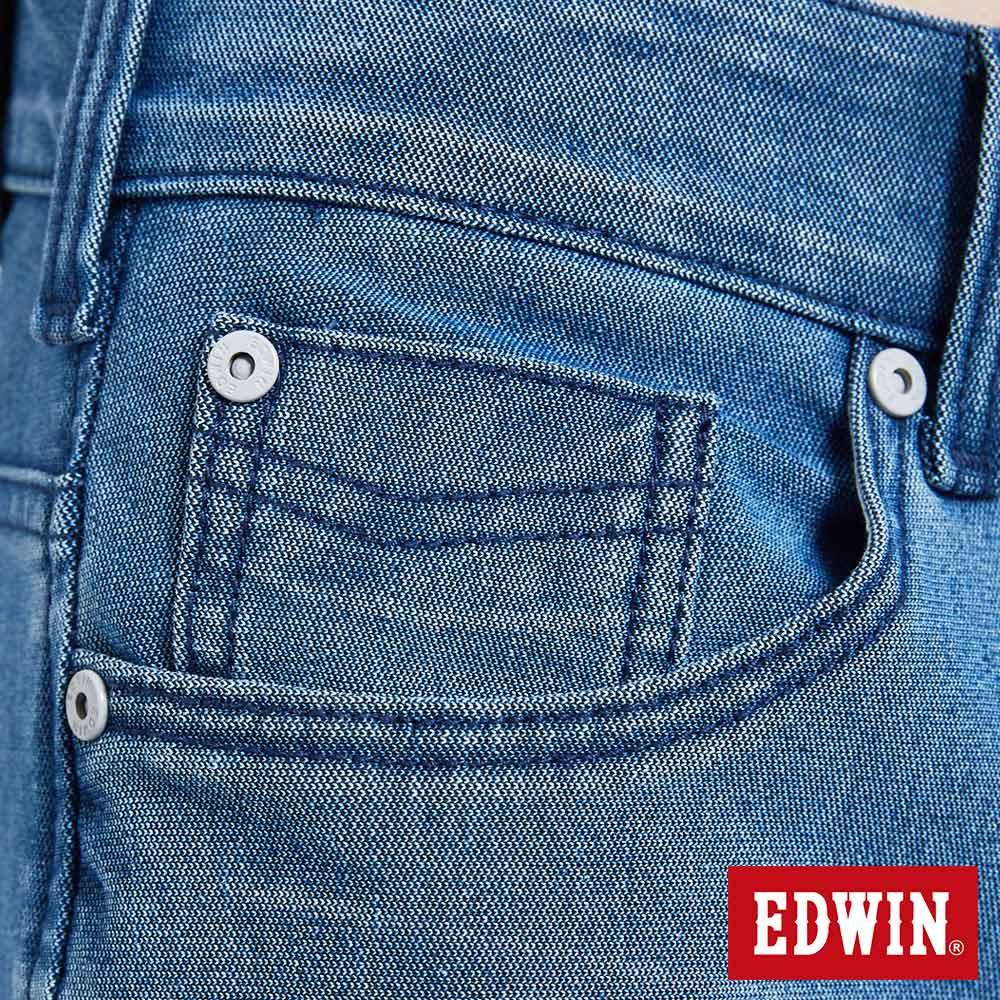 新品↘EDWIN JERSEYS 迦績 PK EJ2透氣中腰合身 牛仔短褲-男款 拔洗藍 SHORTS 8