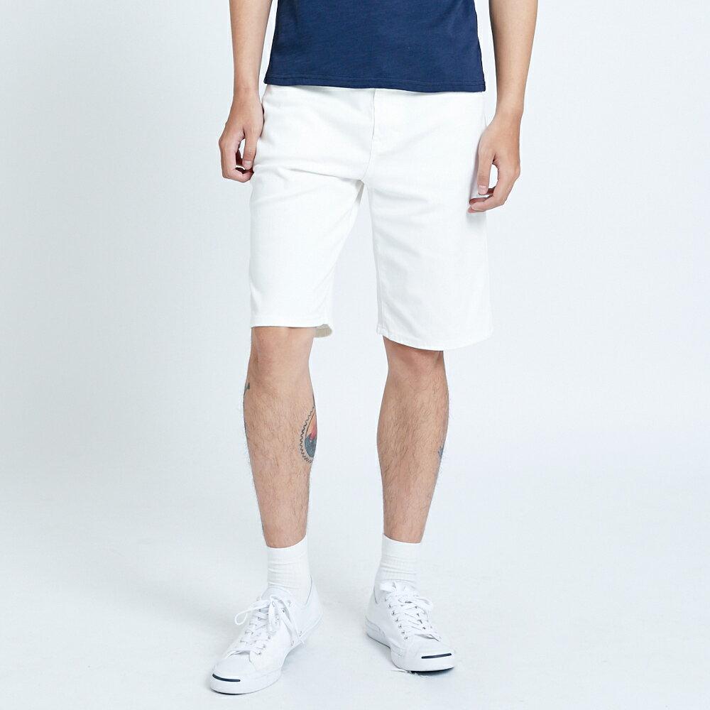 新品↘EDWIN JERSEYS迦績 EJ3 涼感 復古棉 休閒短褲-男款 白色 SHORTS 1