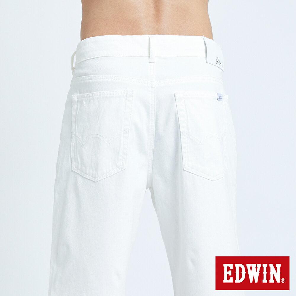新品↘EDWIN JERSEYS迦績 EJ3 涼感 復古棉 休閒短褲-男款 白色 SHORTS 7