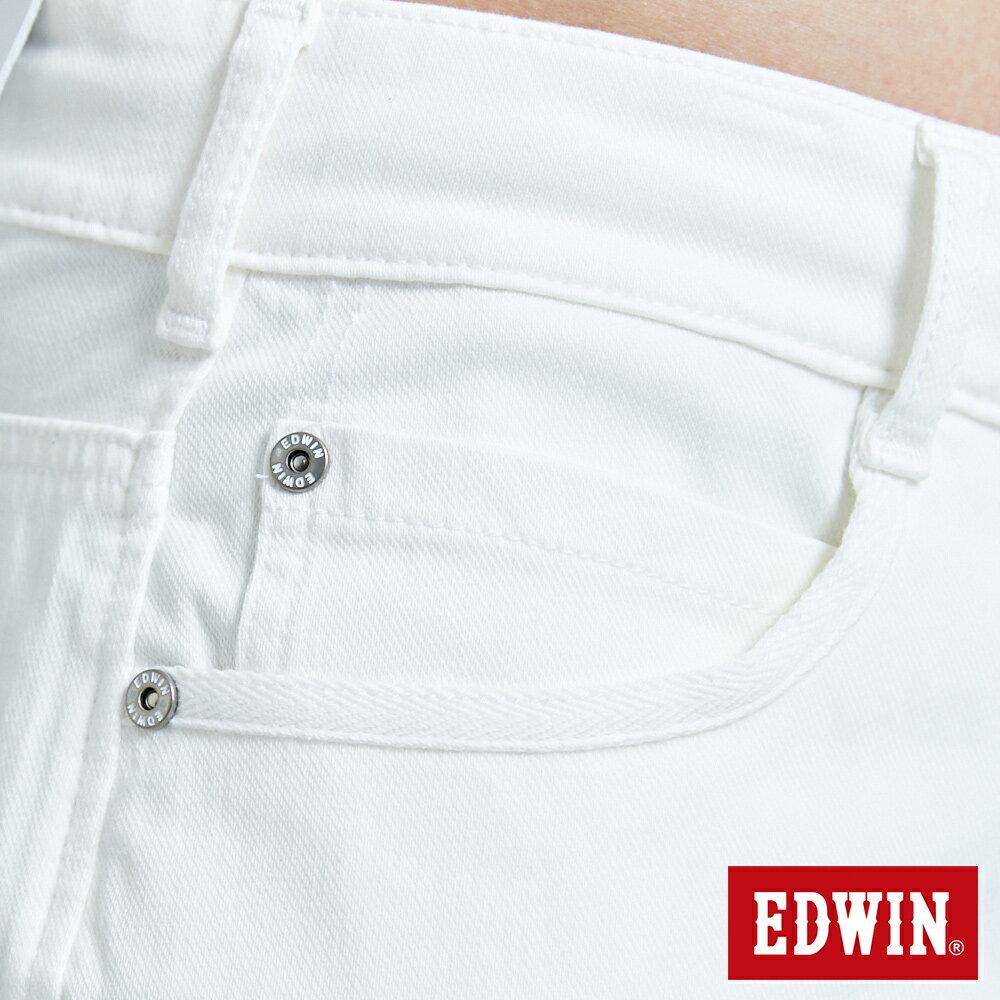 新品↘EDWIN JERSEYS迦績 EJ3 涼感 復古棉 休閒短褲-男款 白色 SHORTS 8