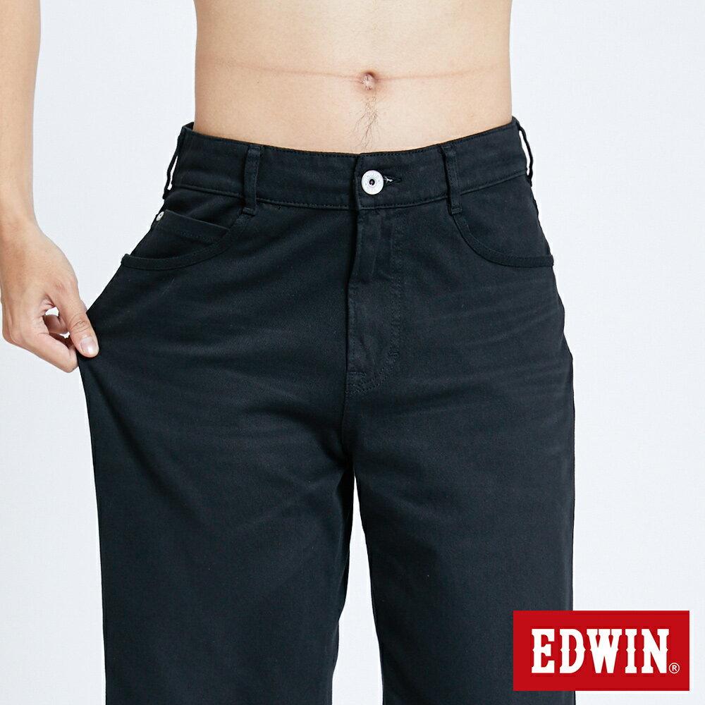 新品↘EDWIN JERSEYS迦績 大尺碼 EJ9 涼感 復古棉 休閒短褲-男款 黑色 SHORTS 6