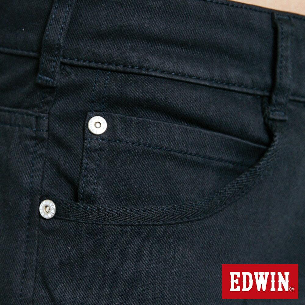 新品↘EDWIN JERSEYS迦績 大尺碼 EJ9 涼感 復古棉 休閒短褲-男款 黑色 SHORTS 8