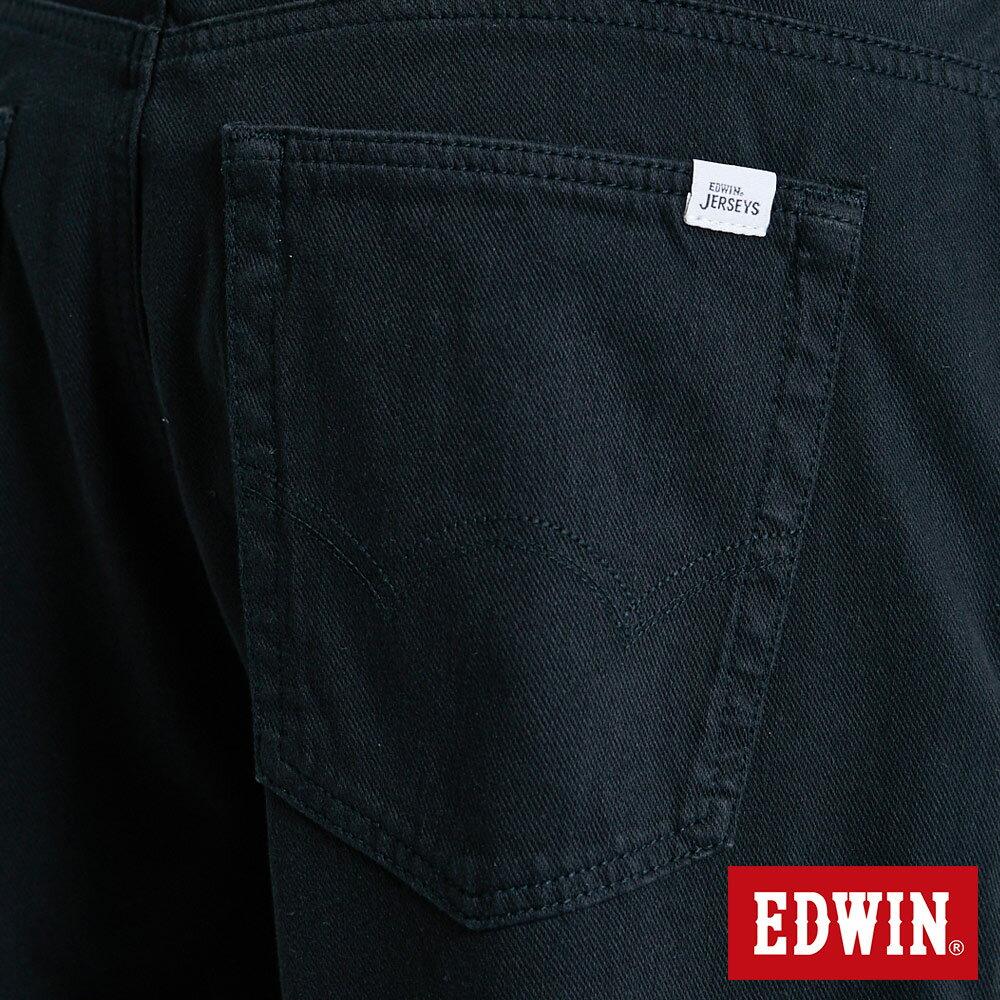 新品↘EDWIN JERSEYS迦績 大尺碼 EJ9 涼感 復古棉 休閒短褲-男款 黑色 SHORTS 9