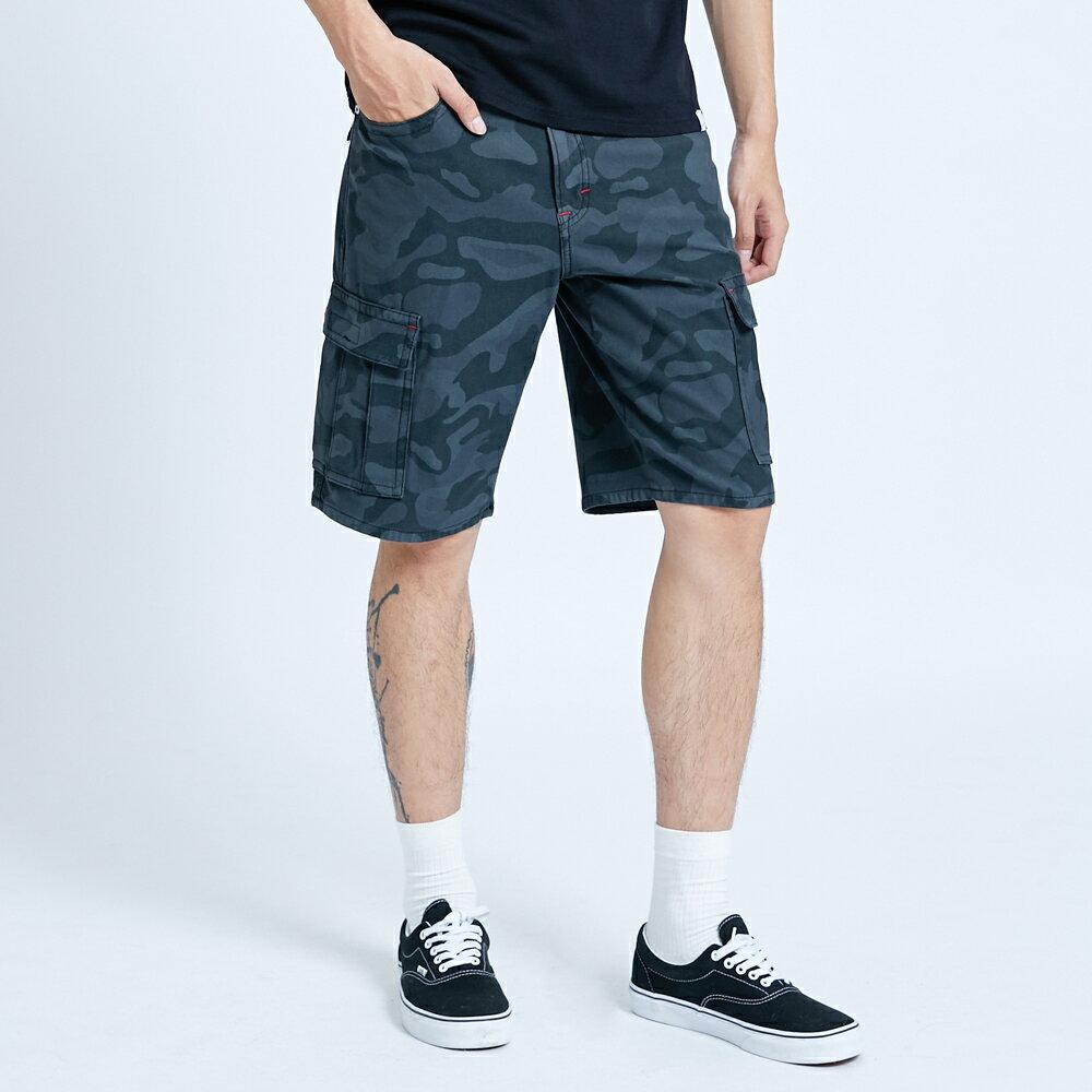 新品↘EDWIN JERSEYS迦績 EJ3 涼感 迷彩 工作短褲-男款 暗灰色 SHORTS 1