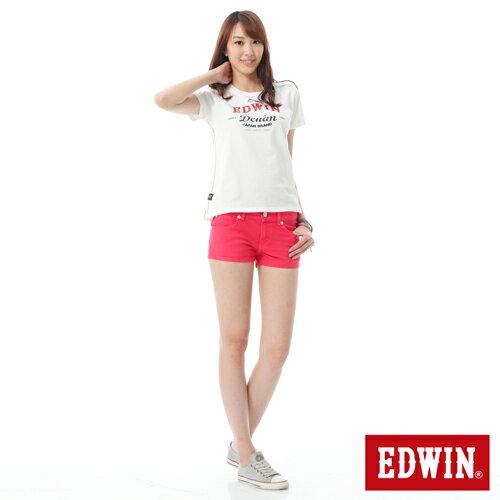 【1290元優惠↘】EDWIN JERSEYS迦績彩色超短褲-女-玫瑰粉 2