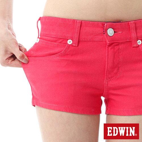 【1290元優惠↘】EDWIN JERSEYS迦績彩色超短褲-女-玫瑰粉 3
