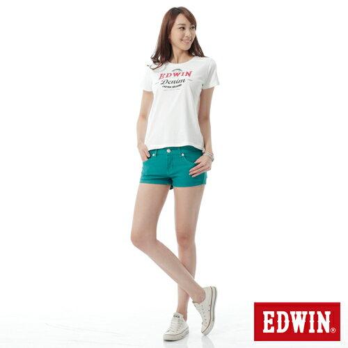 【1290元優惠↘】EDWIN JERSEYS迦績彩色超短褲-女-綠色 2