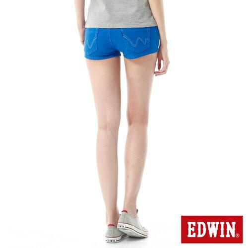 【1290元優惠↘】EDWIN JERSEYS迦績彩色超短褲-女-藍色【點數加碼10+10倍↘】【下單滿799輸入限量代碼79910030-1折100元↘序號限用一次↘】 1