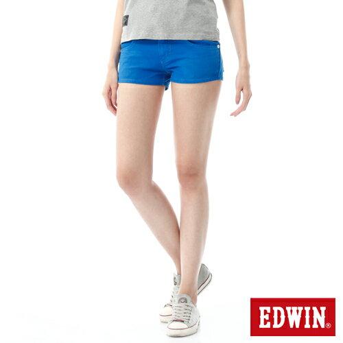【1290元優惠↘】EDWIN JERSEYS迦績彩色超短褲-女-藍色【點數加碼10+10倍↘】【下單滿799輸入限量代碼79910030-1折100元↘序號限用一次↘】 0