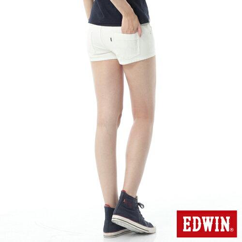 【1290元優惠↘】EDWIN JERSEYS迦績彩色超短褲-女-白色 1