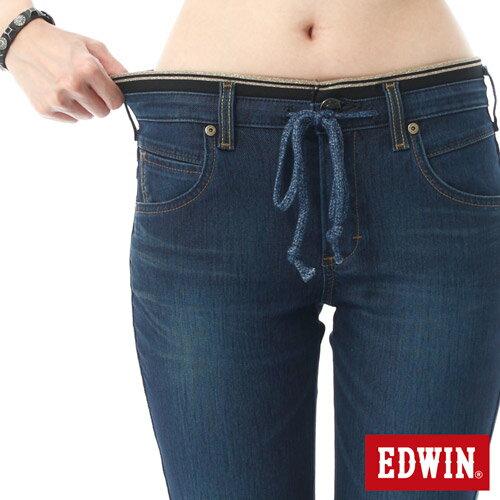 【5折優惠↘】EDWIN JERSEYS 迦績3D束口七分牛仔褲-女-酵洗藍【4/25單筆588憑優惠券序號17marathon-2。再折88元】 3