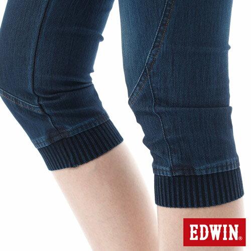 【5折優惠↘】EDWIN JERSEYS 迦績3D束口七分牛仔褲-女-酵洗藍【4/25單筆588憑優惠券序號17marathon-2。再折88元】 5
