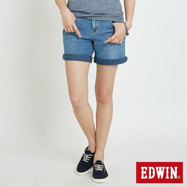 【5折優惠↘】EDWINJERSEYS迦績快乾牛仔短褲-女款重漂藍【單筆滿5030元送限量生日T】【5月會員消費滿3000元再賺15%點數】