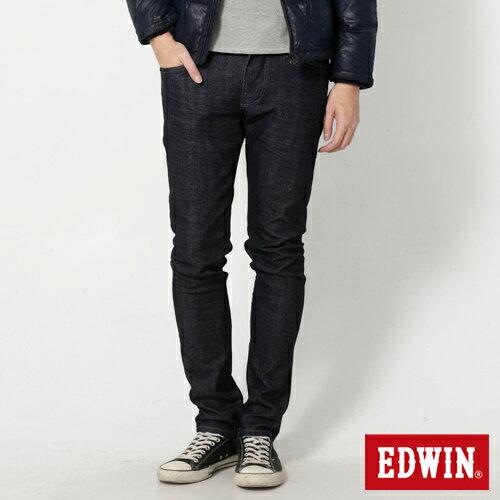 【9折優惠↘】EDWIN EDEG 雙口袋 窄直筒牛仔褲 (靛藍袋花) -男-原藍 0