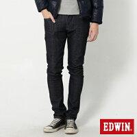 【新褲2件折1688元| 第3件再折688元↘】EDWIN EDGE 雙口袋 窄直筒牛仔褲 (靛藍袋花) -男款 原藍【訂單成立後手動審核折價|不會立即變更】