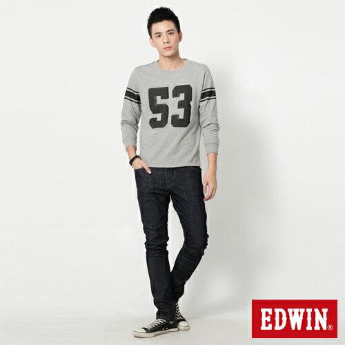 【9折優惠↘】EDWIN EDEG 雙口袋 窄直筒牛仔褲 (靛藍袋花) -男-原藍 2