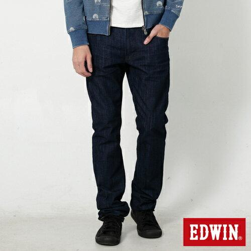 【新品上市↘】EDWINEDGE麂皮芽邊窄直筒牛仔褲(湖水藍袋花)-男款原藍色【5月會員消費滿3000元再賺15%點數】