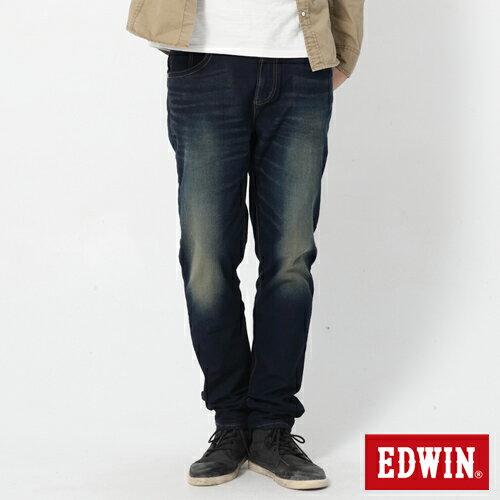 【2200元優惠↘】【大尺碼】EDWIN JERSEYS 迦績圓織牛仔褲-男款 原藍磨 1