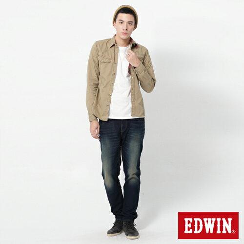 【2200元優惠↘】【大尺碼】EDWIN JERSEYS 迦績圓織牛仔褲-男款 原藍磨 2