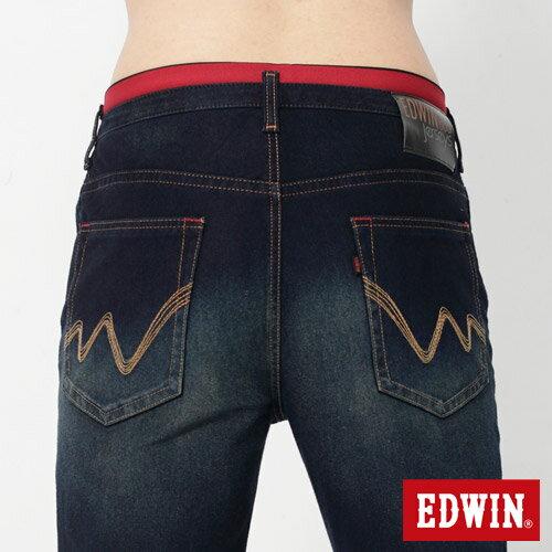 【2200元優惠↘】【大尺碼】EDWIN JERSEYS 迦績圓織牛仔褲-男款 原藍磨 4