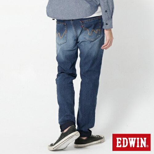 EDWIN JERSEYS 迦績 大尺碼 圓織AB牛仔褲-男款 石洗綠 TAPERED 1
