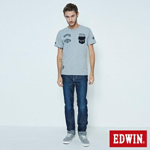 EDWIN JERSEYS 迦績 大尺碼 夏日涼感 AB牛仔褲-男款 原藍磨 3