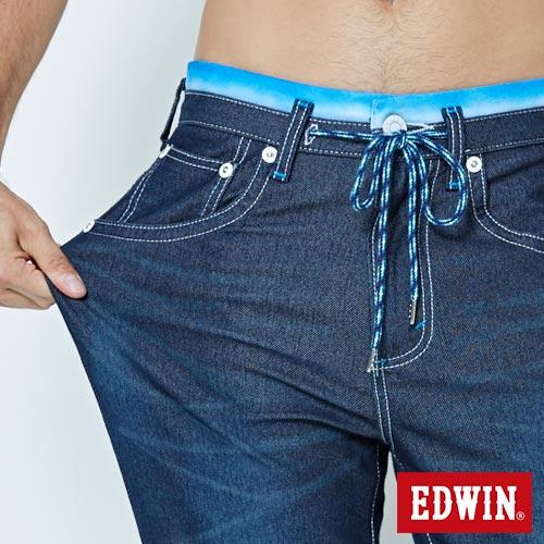 EDWIN JERSEYS 迦績 大尺碼 夏日涼感 AB牛仔褲-男款 原藍磨 4