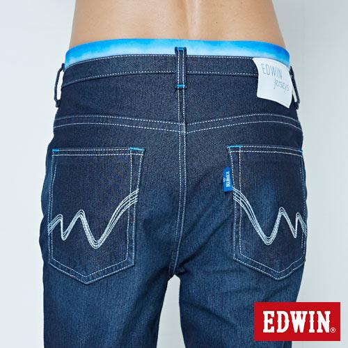 EDWIN JERSEYS 迦績 大尺碼 夏日涼感 AB牛仔褲-男款 原藍磨 5