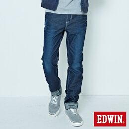 EDWIN JERSEYS 迦績 大尺碼 夏日涼感 AB牛仔褲-男款 原藍磨